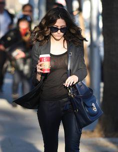 Emmy Rossum is seen in Los Angeles on December 22, 2014 in Los Angeles, California.