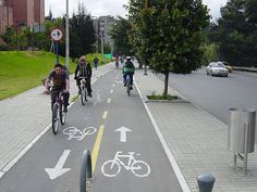 Cycling in Bogota, Colombia Mobiles, Velo Cargo, Urban Bike, Urban Furniture, Furniture Plans, Furniture Removal, Furniture Stores, Bike Path, Smart City