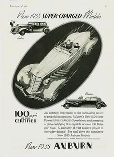 New 1935 Auburn, Time magazine ad, January 28, 1935