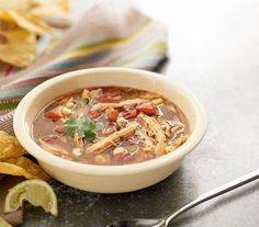 This Chicken Tortilla Soup recipe will make you feel better in no time! Eat more vegetables by throwing them into soup! Delicious, healthy and makes a perfect meal. The nutrients in this soup are on