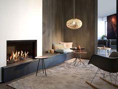 Living Room Decor Fireplace, Home Fireplace, Fireplace Remodel, Modern Fireplace, 3 Sided Fireplace, Feature Wall Living Room, Living Room Tv, Home And Living, Fireplace Feature Wall