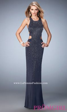 Beaded Embellished La Femme Prom Dress Style: LF-22287