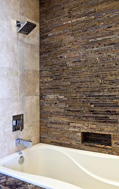Forest Brown Marble Shower