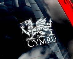 Welsh Dragon History   Wales-Cymru Dragon -Car Sticker- Welsh Rugby Union Sign   eBay