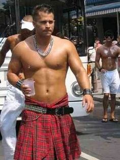 """irish men in kilts 