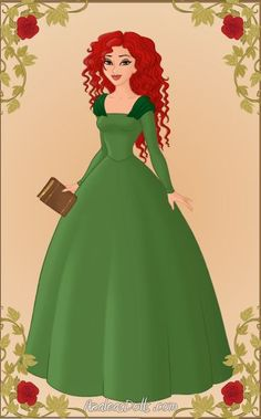 Merida As Belle Doll by WeavingMaiden