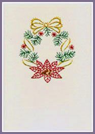 Xmas Bell and Wreath Prick 'n Stitch Card Designs
