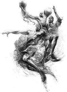Air Jordan Athletes x Mythology Pencil Sketch