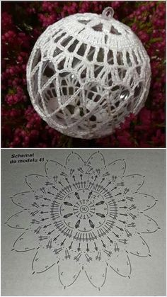 Best 12 Learn how to crochet these cute and extraordinary Christmas Baubles using the step by step tutorials in different languages. Christmas Tree Hooks, Crochet Christmas Decorations, Crochet Decoration, Crochet Christmas Ornaments, Christmas Crochet Patterns, Crochet Snowflakes, Christmas Baubles, Christmas Crafts, Christmas Jacket
