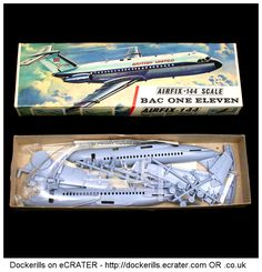 Airfix BAC One Eleven Vintage Type 3 Box Kit. 1/72 Scale. Produced c. 1963-1973. #Airfix