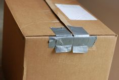 How To Make A Resealable Cardboard Box