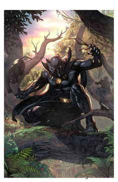 Something Marvel? Something Dc? Bit of both! Black Panther Marvel, Film Black Panther, Black Panther King, Hq Marvel, Marvel Heroes, Marvel Cinematic, Marvel Comics, Comic Book Heroes, Comic Books Art