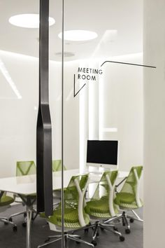 Sayl chair, glass film signage, feeling Design - Project - BWM Office