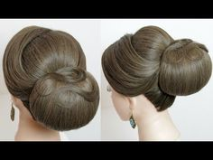 (54) Indian bridal hairstyle. Classic updo for medium to long hair tutorial - YouTube