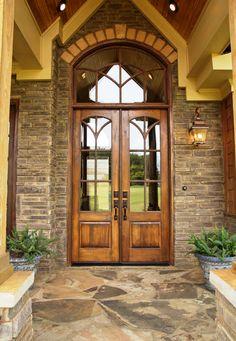 Craftsman Front Door with Custom double front entry doors, Model 695 ...