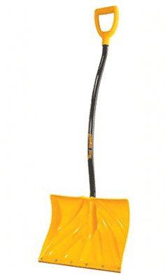 True Temper 18-Inch Ergonomic Snow Shovel Snow Sled, Shovel, Dustpan