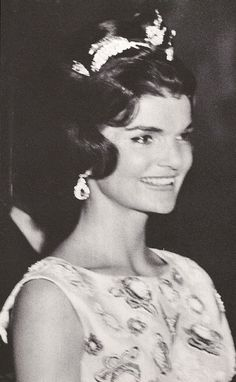 Jacqueline Kennedy at the Palace of Versailles during the June 1961 visit.