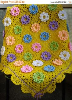 SALE  10% OFF Granny Square Crochet Blanket...Baby by GalyaKireva