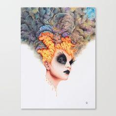 Burning Girl Canvas Print by Ronald Restituyo   Society6
