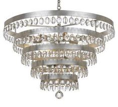 Crystorama Lighting Group Perla Antique Silver 9 Light Chandelier with Clear Elliptical Faceted Crystal Rectangle Chandelier, Silver Chandelier, Large Chandeliers, Mini Chandelier, Chandelier Lighting, Kitchen Chandelier, Crystal Chandeliers, Bedroom Lighting, Transitional Chandeliers
