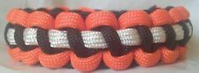 Paracord Bracelet Cincinnati Bengals Inspired Black Orange White Thin Line