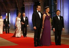 4/29/13.  Queen Beatrix hosts her final dinner as Queen for members of the royal family and other VIP guests at the Rijksmuseum.