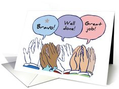 Employee Appreciation with Congratulations, Hands and Applause card