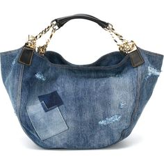 Dsquared2 Denim Tote ($1,745) ❤ liked on Polyvore featuring bags, handbags, tote bags, blue, blue purse, denim tote, blue tote bag, tote bag purse and distressed handbags
