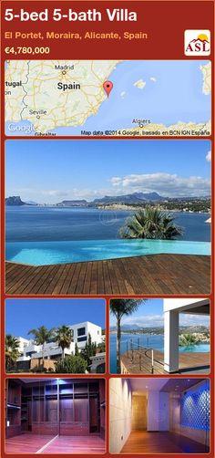 5-bed 5-bath Villa in El Portet, Moraira, Alicante, Spain ►€4,780,000 #PropertyForSaleInSpain