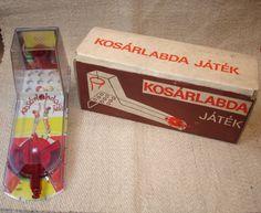 "Antique Tin Toy ""E""Flim Lemezarugyar Basketball Table Game Machine | eBay"