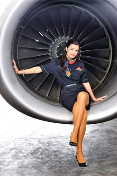 Hungarian flight attendant