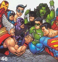 ARM Wars Of DC & Marvel