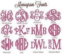 Free Printable Monogram Initials  The Original Monogram Is On The