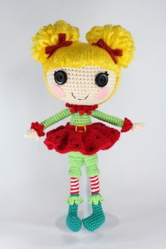 LALALOOPSY Holly Sleighbells Amigurumi Doll by Npantz22.deviantart.com on @deviantART