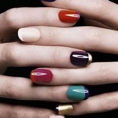 fall nails. O Spa Kelowna, En Vogue Gel Nails and Lac Sensation Manicures
