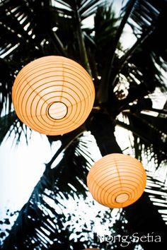 Outdoor wedding decoration in Bali