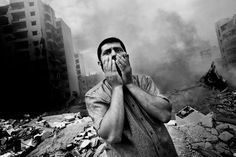 #Beirut. 2006. Man stands on rubble of building destroyed by #Israeli air strike. (© Paolo Pellegrin/ #Magnum Photos)