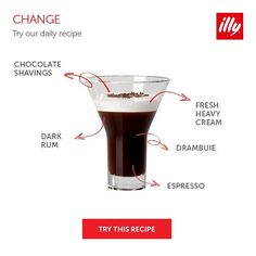 Meet and mix Change, a sophisticated #cocktail infused with Drambuie, an ingredient that emanates both honey and herb scents. #illycoffee