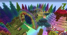 minecraft rainbow cake house - Google Search
