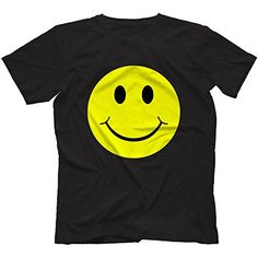 Acid House Smiley Face T-Shirt, Black, Large Small Bees, Acid House, Top 5, Rave Wear, Bees Knees, Tee Shirts, Tees, Quality T Shirts, Festival Fashion