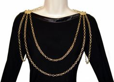 Necklace Body Chain Richelieu Brooch Epaulets Rare by PearlModern, $165.00