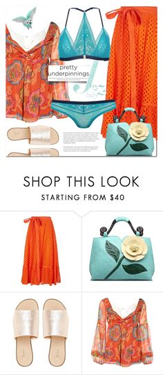 """""""PRETTIEST UNDERPINNINGS"""" by katymill ❤ liked on Polyvore featuring Tory Burch, L.E.N.Y., Diane Von Furstenberg, Arca, underpinnings and prettyunderpinnings"""