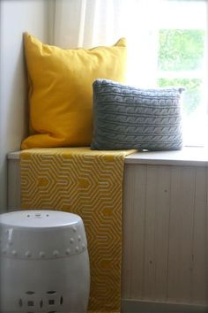 A Yellow And Gray Master Bedroom