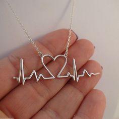FashionJunkie4Life - Sterling Silver Heartbeat Necklace, $28.99 (http://www.fashionjunkie4life.com/sterling-silver-heartbeat-necklace/)
