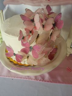 Edible Pastel Pink Variety Wafer Butterfly by IncrediblePantry