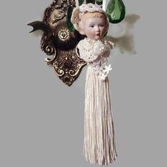 Vintage Porcelain Tassel Bride Doll by EraAntiquesandFinds on Etsy