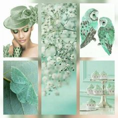 Made bij Elly Shades Of Turquoise, Teal, Color Collage, Beautiful Collage, Collages, Colour Board, Aqua Color, Painted Paper, Color Stories