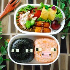キャラ弁☆マインクラフトよりエンダーマンとブタの作り方 Bento And Co, Bento Box, Lunch Box, School Lunch, Cobb Salad, Beverages, Food And Drink, Food Decorating, Snacks