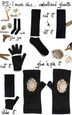 Wear fancy gloves. | 23 Ways To Glam Up Your Little Black Dress