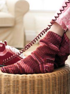 The Basic Sock (Worsted weight)   Yarn   Free Knitting Patterns   Crochet Patterns   Yarnspirations